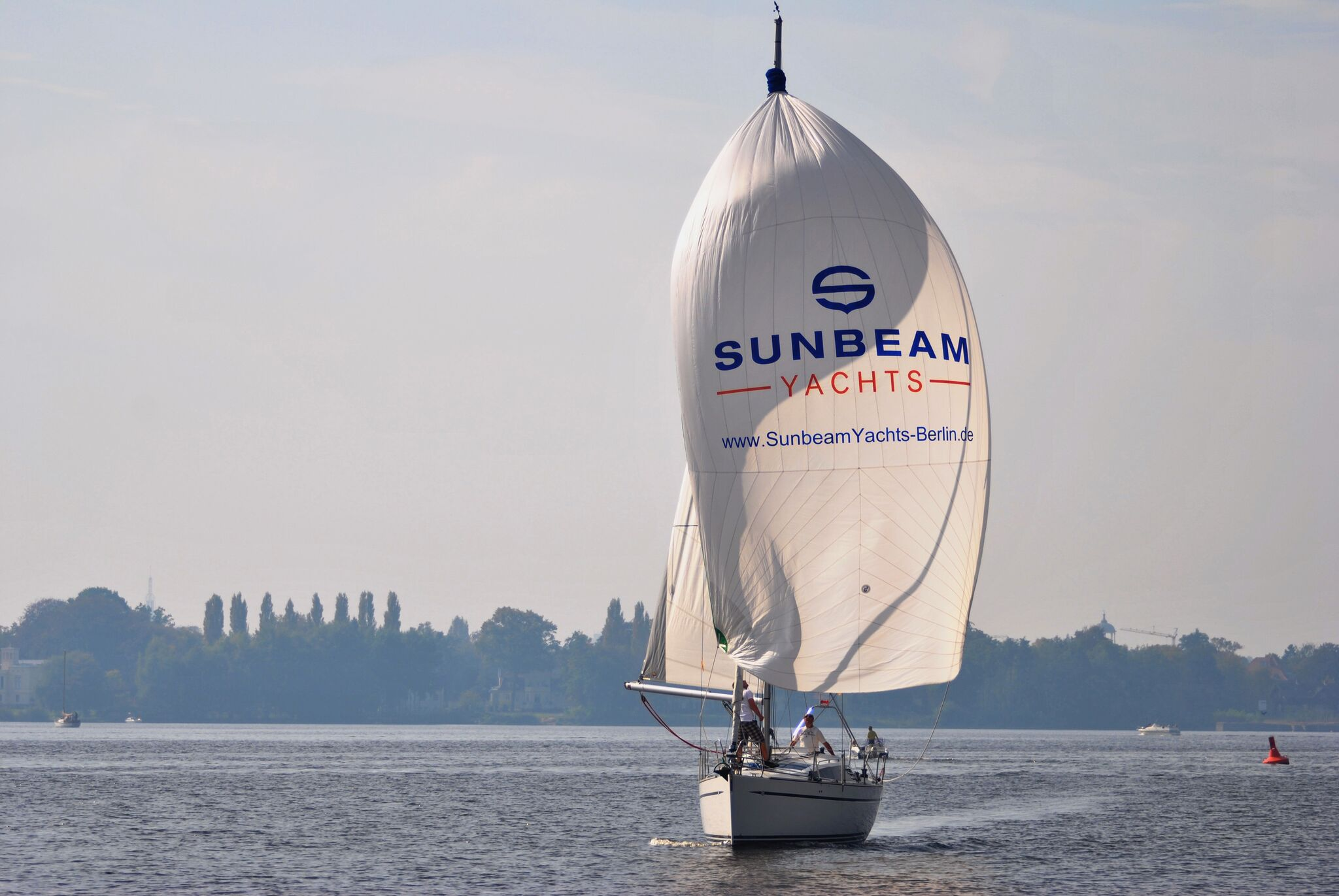 Skippertraining Yacht unter Segeln