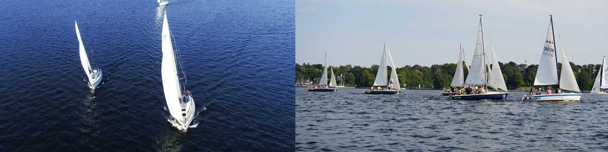 Firmentevents auf Segelbooten